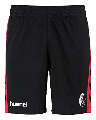 Hummel SC Freiburg pantaloncini da 2016/2017nero/rosso (Black-True Red), Black -True Red