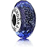 Pandora-Charm dunkelblau facettiert Glaskristall 791646