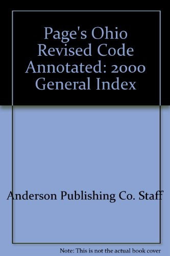 Page's Ohio Revised Code Annotated: 2000 General Index
