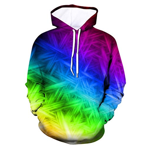 Setsail Herren Neuer Herrentel 3D gedruckt Hoodie mit Kapuze lose Langarm Sweatershirt Tops Freizeitjacke -