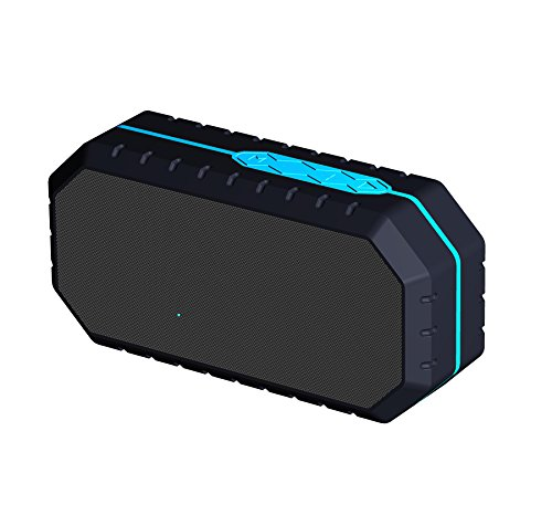 Enkman Portable Wireless Outdoor Bluetooth Lautsprecher IP65 Wasserdicht Dual, Enhanced Bass, Errichtet in Mic, Wasser Resistent, Strand, Dusche & Haus(Blau)