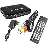 1080p Full HD Reproductor Multimedia HDMI Reproductor Digital Tamaño pequeño Viajando con Control Remoto para Controladores USB Dispositivos externos