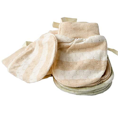 Mifz Baby-Fäustlinge für Neugeborene, besonders dünn, kratzfest, atmungsaktiv, Bio-Baumwolle, für Babys von 0-6 Monaten