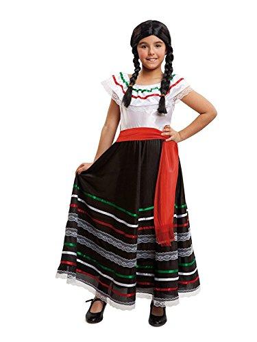 DISBACANAL Disfraz de Mexicana para niña – Único, 7-9 años