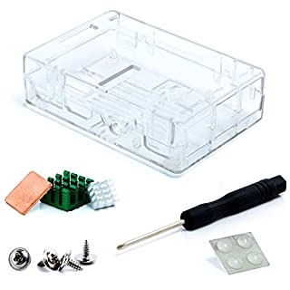 Aukru Raspberry Pi Case, Raspberry Pi 3/3 B+ Case - Protective Case with Heat Sink for Raspberry Pi 3 Model B+/Pi 3 B, RasPi 2 Model B/Pi B+