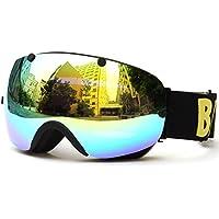 Lixada Gafas de Esquí de Invierno UVA400 Protección Doble Lente Gafas Esféricas Deportivas con Lente Desmontable