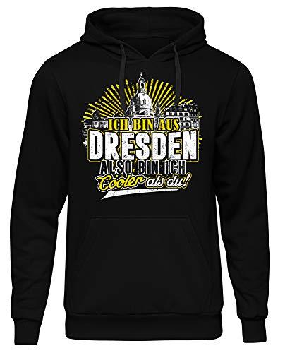 Cooler als du Dresden Männer Herren Kapuzenpullover   Fussball Skyline Trikot Sport Ultras Fun (XXL)