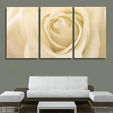 H.COZY immagine 3 unids / set tela pittura rose gialle fiore di stampa chiari quadri su tela di soggiorno (Senza telaio) Senza cornice far31 12x20 Pollici
