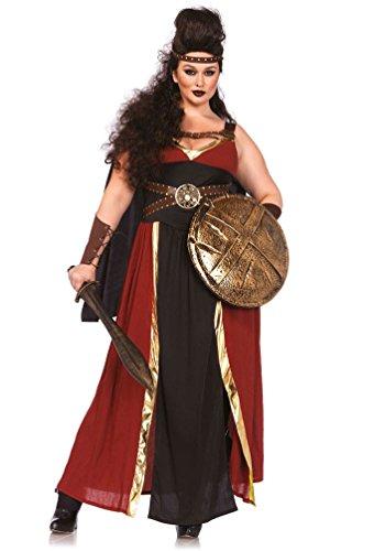Karneval-Klamotten' Kostüm Gladiatorin Kriegerin Dame Plus Size Luxus Karneval Römerin Damenkostüm Größe 46/50