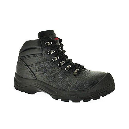 LASCA Chaussure de Sécurité montante cuir noir s3 idéale chantier travaux exterieur Noir