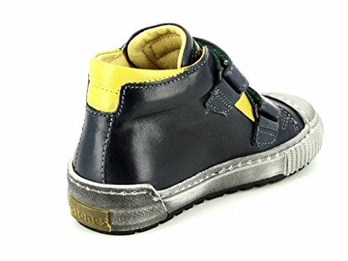 Stones and Bones Panto 3524 navy yellow Kinder Boot in Mittel Blau