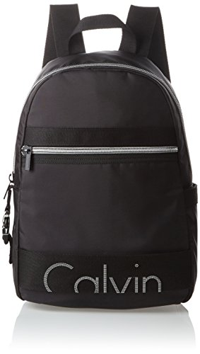 Calvin-Klein-Jeans-Damen-RE-ISSUE-BACKPACK-1-NYLON-Rucksack-Schwarz-Black