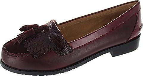 Laceys London Cassidy Tassle, Chaussures de ville à lacets pour femme rouge Red - rouge - Red, 39.5