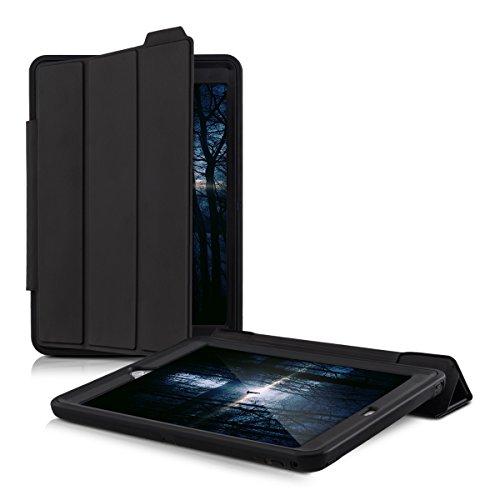 kwmobile Hybrid Smart Cover Schutzhülle für Apple iPad Air 2 - Outdoor Kunststoff Tablet Case Hülle mit Ständer in Schwarz