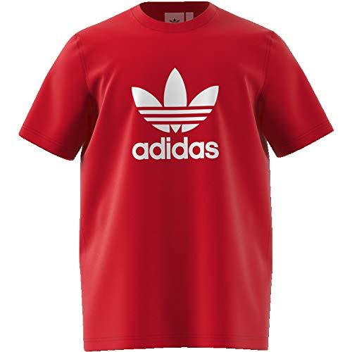 adidas Herren Trefoil T-Shirts L Scarlet/White -