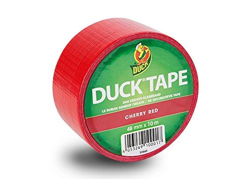 Duck Tape 113855 Gewebeband, 48 mm x 9,1 m, Cherry Red