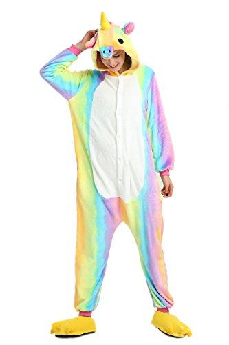 Imagen de pijamas de unapieza  youson girl® unicornio adulto pijamas unisexo adulto traje disfraz adulto animal pyjamas s altura 57.8inch 61.8inch / 147cm 157cm , vistoso  alternativa