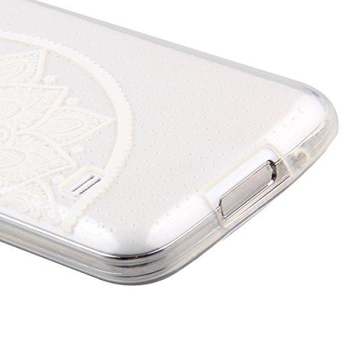 Trasparente TPU Custodia Case per iphone 5C - ISAKEN ultra sottile Silicone Custodia Morbido Flessibile case cover Protettivo Skin UltraSlim TPU Caso per Apple iphone 5C (tarassaco) fiori #17