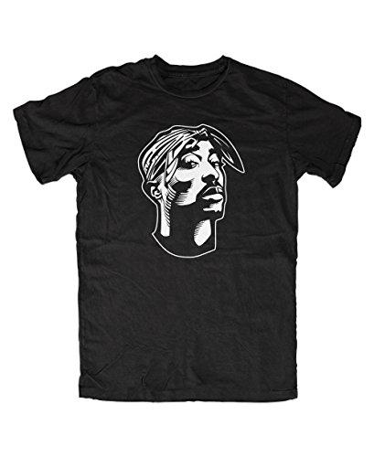 Tupac T-Shirt (L, Schwarz)