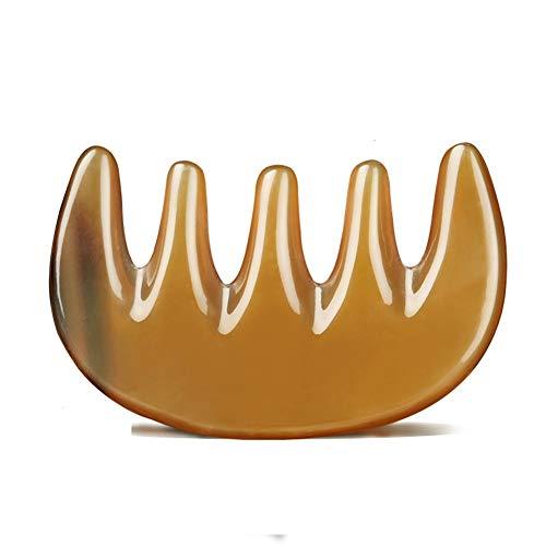 Bürsten Kamm Kamm Massageplatte Schaben Kamm Kopf Meridian Kamm Reines Authentisches Rindfleisch Knochen Kopf Behandlung Buchstaben B - Verknotet Schnalle