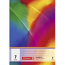 Brunnen 104590702 Exercise Book, A5, 16 Sheets, 7 mm Chequered, ruling Type 7