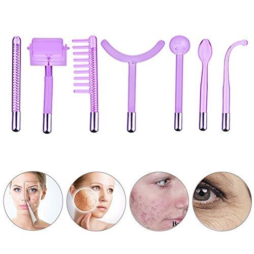 7 piezas de alta frecuencia piezas de la máquina Facial, terapia de alta frecuencia portátil de la piel que aprieta removedor de las arrugas del punto del acné terapia de la belleza