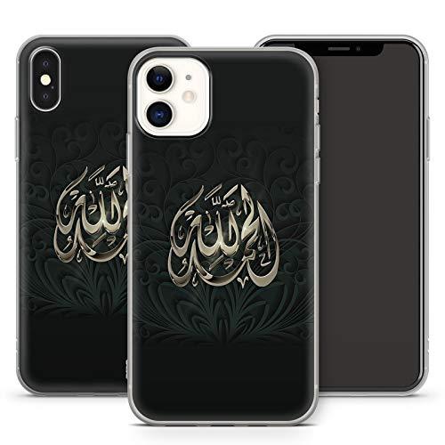 Handyhülle Allah für Apple iPhone Silikon MMM Berlin Hülle Gott Muslim Mecqua Koran Islam Gott, Hüllendesign:Design 2 | Silikon Klar, Kompatibel mit Handy:Apple iPhone 11 Pro Max