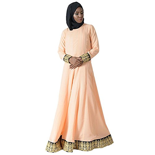 Royal Trim Eid Abaya Dress+HIjab