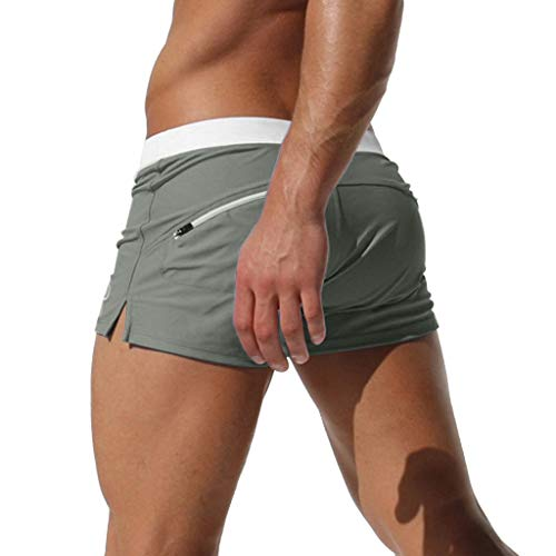 BBestseller Trajes de natación para Hombre,Color sólido Bañador para Hombre Secado rapido Deporte de Aire Libre Bóxers Pantalón de Playa Plano
