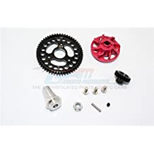 Traxxas Slash 4x4 Low-CG Version Upgrade Parts Aluminium Gear Adapter With Steel 32 Pitch 54T Spur Gear & 18T Motor Gear - 1 Set Red