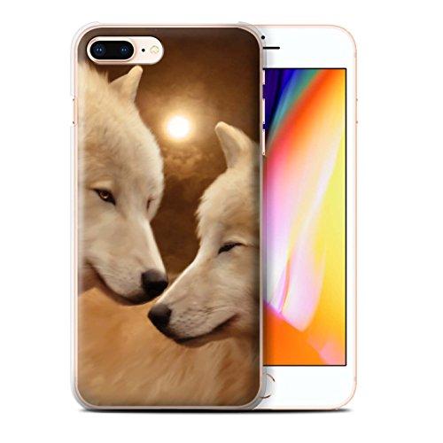 Officiel Elena Dudina Coque / Etui pour Apple iPhone 8 Plus / Loups Blancs Design / Les Animaux Collection Loups Blancs