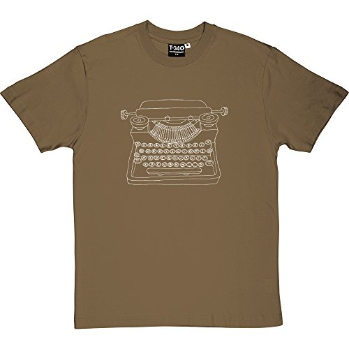 Typewriter Men's T-Shirt (White Print) Many Colours