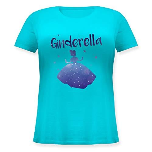Typisch Frauen - Ginderella - L (48) - Hellblau - JHK601 - Lockeres Damen-Shirt in großen Größen mit Rundhalsausschnitt (Gin Fett)