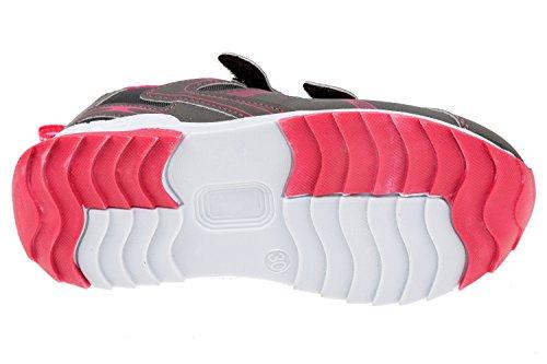 gibra , Baskets pour garçon gris/rose