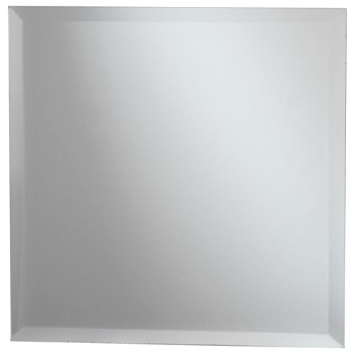 Darice Square Glass Mirror W/Bevel Edge Bulk-11.75-inch, Other, Multicoloured