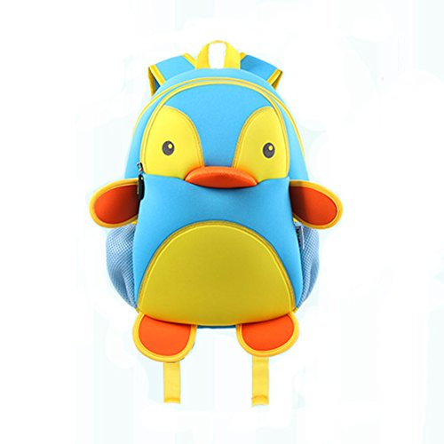 bingone-nohoo-bambini-zaino-3d-cartoon-zoo-blu-penguin-blue