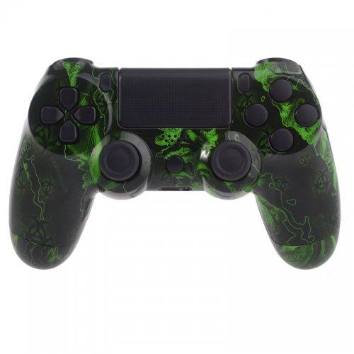 PS4 Controllergehäuse für Dualshock 4 Controller inkl. Mod Kit - Green Zombies