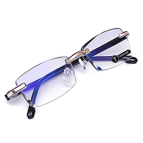 6673d14f8b TERAISE Gafas de lectura sin montura Moda Corte de diamante Diseño  antifatiga Lente transparente Lectores de