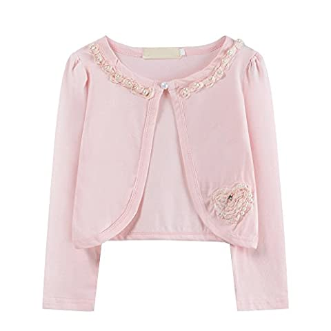 Ourlove Fashion - Gilet - Fille - rose - X-Small