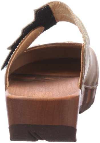 Woody Rebekka Damen Clogs Braun (Cuoio)
