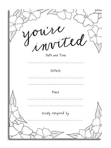 You 're invited Vintage Füllen Einladungen-(25) 5x 7Karten mit Umschlägen-alle Anlässe Hochzeit, Bridal Dusche, Geburtstag, Baby Dusche