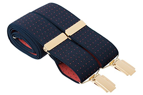 Gents Shop - Tirantes - Lunares - para hombre Blue With Red Dots
