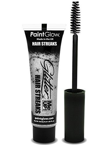 PaintGlow Silver Glitter Me Up Hair Streaks 15ml Tube Silver