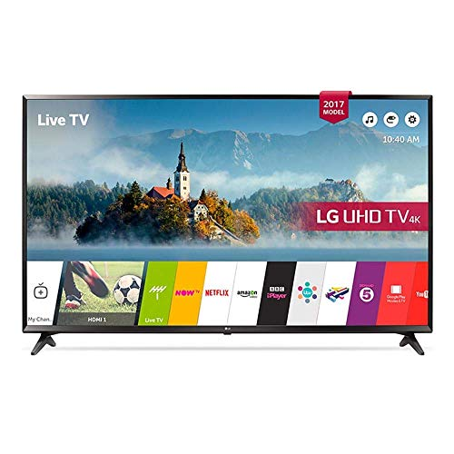 LG 55UJ630V 55 inch 4K Ultra HD HDR Smart LED TV (2017 Model) (Certified Refurbished)