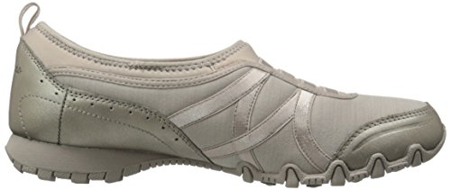 Skechers Bikers Vainqueur Sneaker Taupe Lycra/Champagne Leather