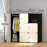 E-KIA Kleiderschrank Schrank Schlafzimmerschrank,Einfach Aufgebauter Moderner Schrank, Garderobenschrank,111 * 75 * 47 * 37