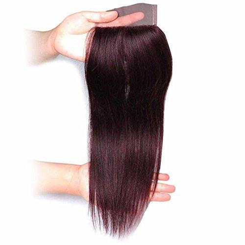 4x4 Menschliches Haar Release Frei Haar Stück Volle Hand-stricken Spitze Haar Echte Haare Perücke Natürliche Fett Fettes Haar Spitze Geschlossen 5 Größe ( Color : Picture Color , Size : 16 )
