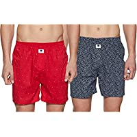 Amazon Brand - Symbol Men's Printed Boxers (Pack of 2) (SYMBXPO2-50 and Print May Vary_S)