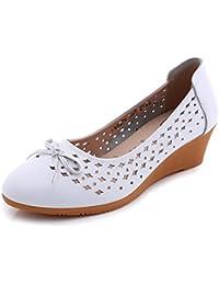 QIANDA Sandalias Mujer Zapatos De Verano Madre Anciana Diseño Perforado Suela TPR Resistencia Al Deslizamiento...