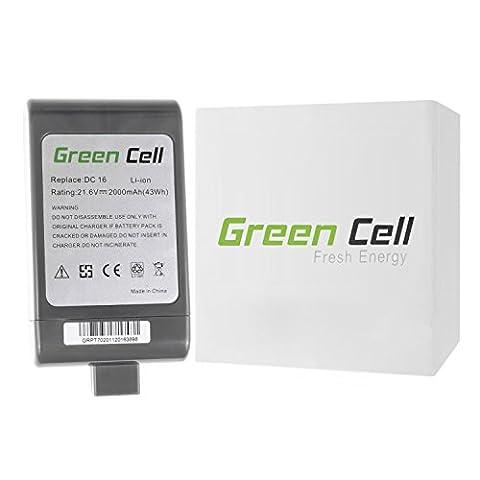 Green Cell® Handstaubsauger Akku für Dyson DC-16 (Li-Ion Zellen 2000 mAh 21.6V)